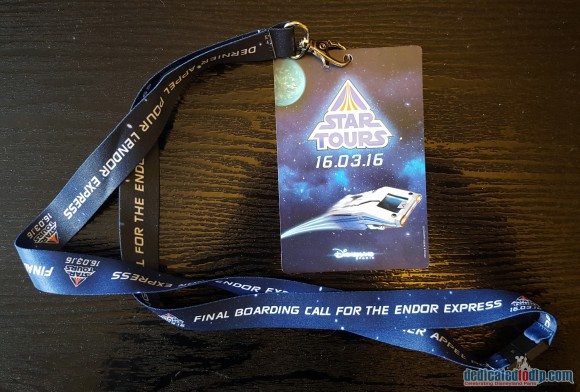 Final Boarding Call For Endor Express Lanyard