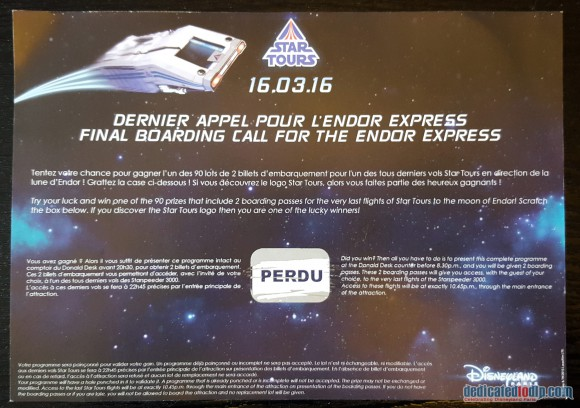 Final Boarding Call For Endor Express Scratch Lottery