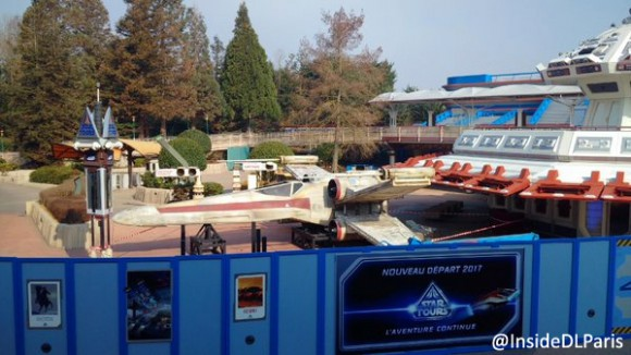 X-Wing Grounded at Star Tours in Disneyland Paris