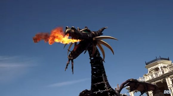 Fire Breathing Dragon in Walt Disney Wolrd