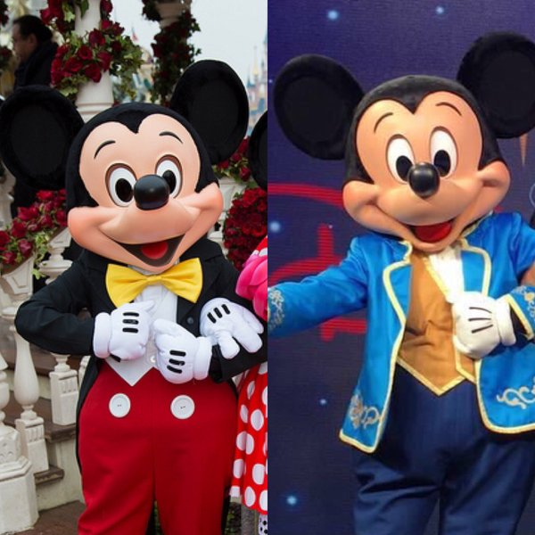 Dedicated to dlp celebrating disneyland paris are human face mickey mouse comparison m4hsunfo