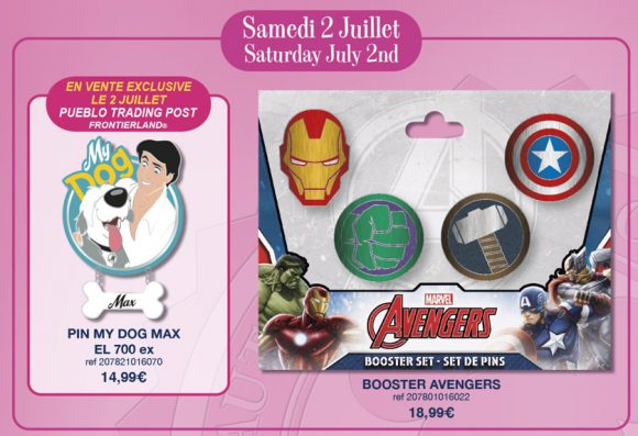 Disneyland Paris Pin Releases - 2nd July 2016