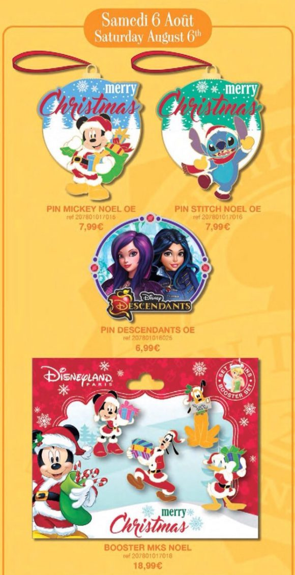 Disneyland Paris Pin Releases – 6th August 2016