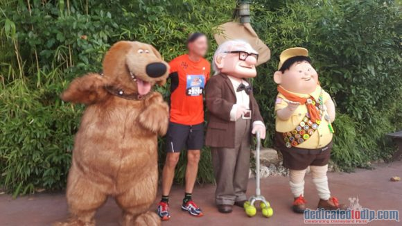 Disneyland Paris runDisney Diary Day 4 - The Half Marathon with Dug, Carl and Russel