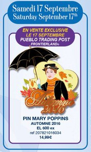 Disneyland Paris Pin Releases - September 17th 2016