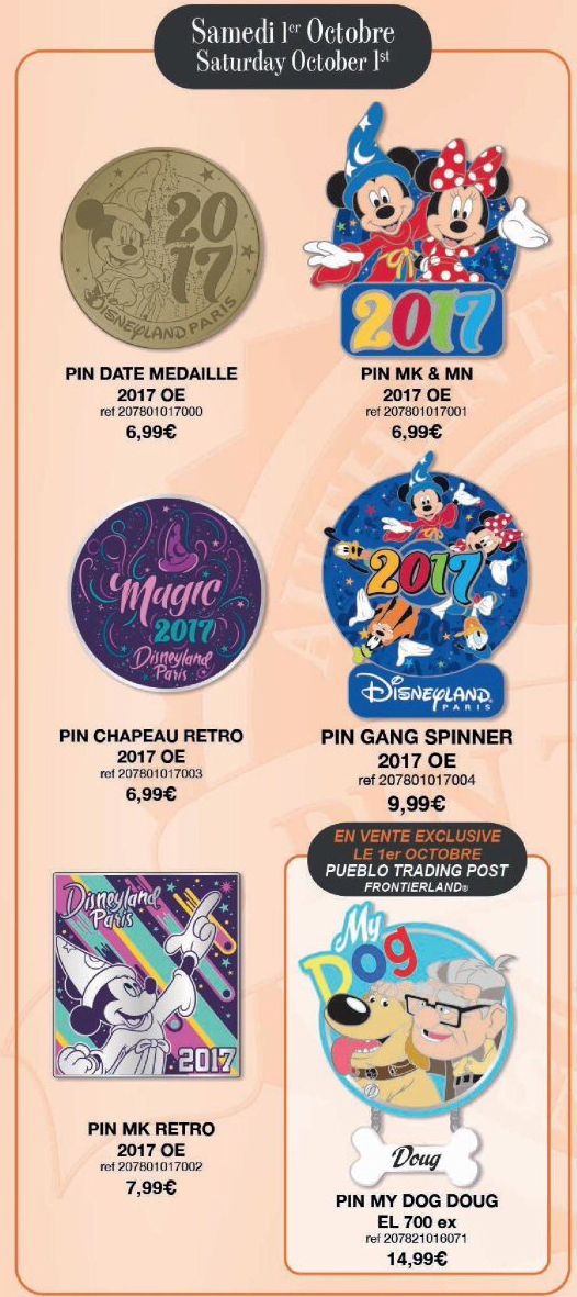 Disneyland Paris Pin Releases – October 1st 2016