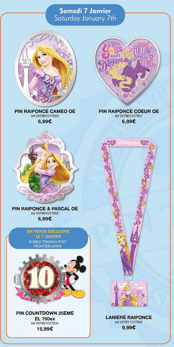 Disneyland Paris Pin Releases – January 7th 2017