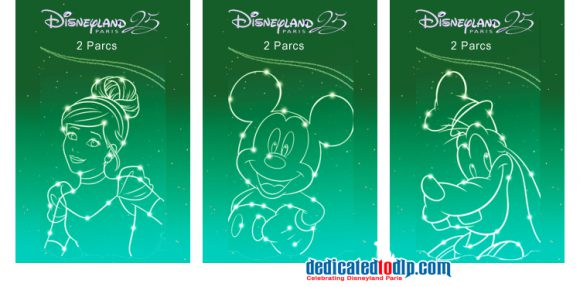 Disneyland Paris 25th Anniversary Tickets 2 Parcs