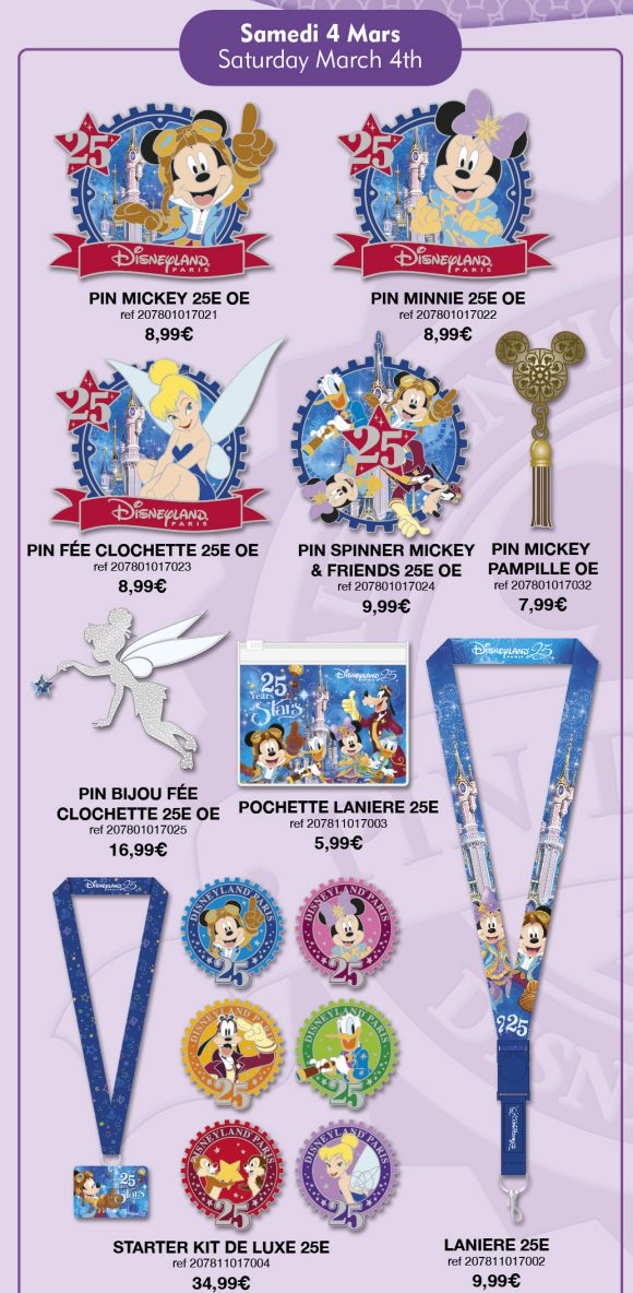 Disneyland Paris Pins For March 4th 2017