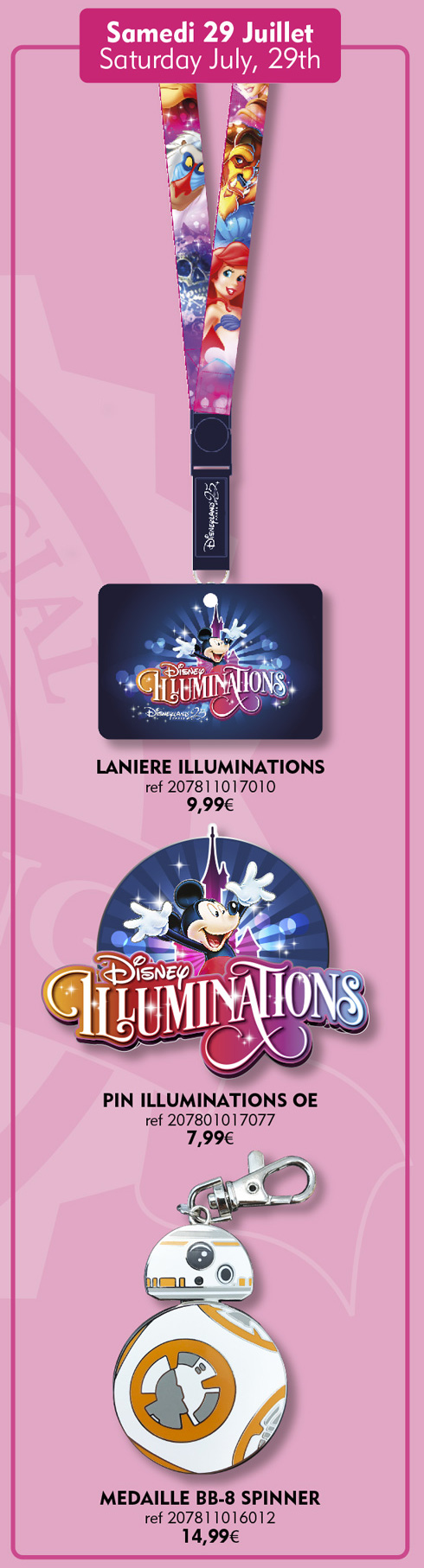 Disneyland Paris Pins For July 29th 2017