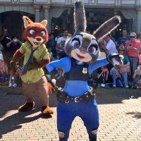 Zootopia Characters in Disneyland-Paris Pre Parade