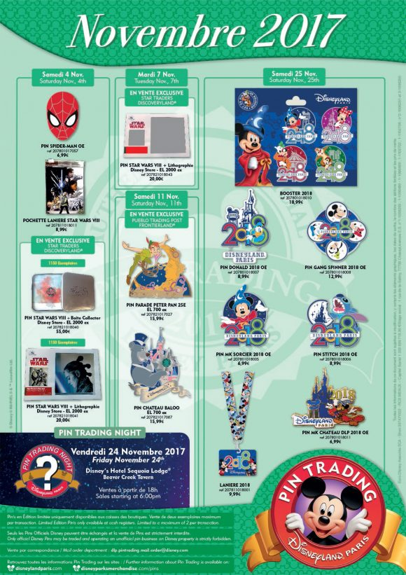 Disneyland Paris Pins For November 2017 - Star Wars, New Year, Mysteries & A Fidget Spinner!