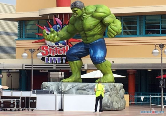 Marvel Summer of Super Heroes Decorations in Disneyland Paris