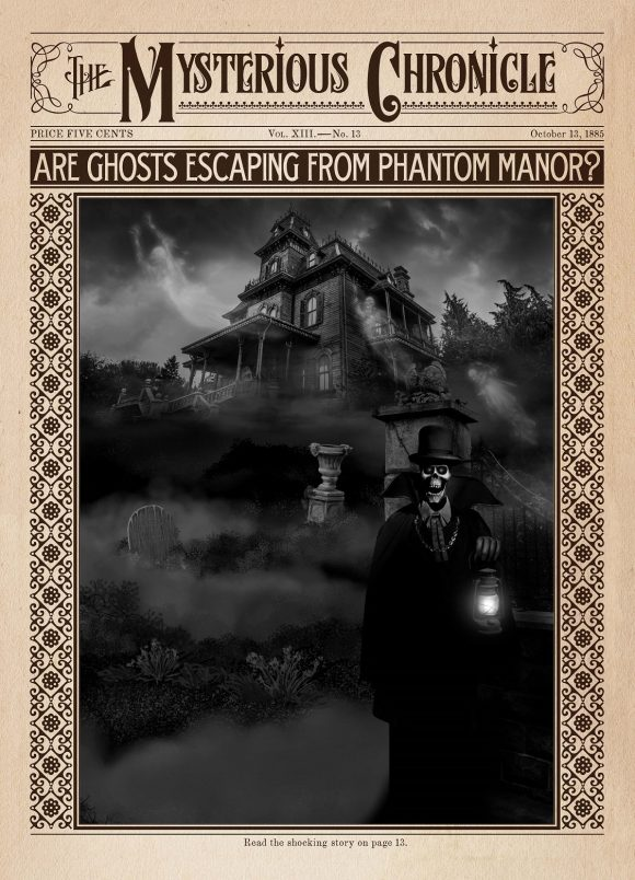 The Mysterious Chronicle Photo Location at The Phantom Manor in Disneyland Paris