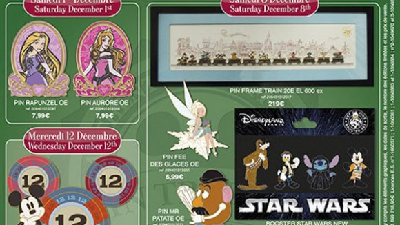 Disneyland Paris Pins for December 2012 – The Train Is Complete & The Force is Strong