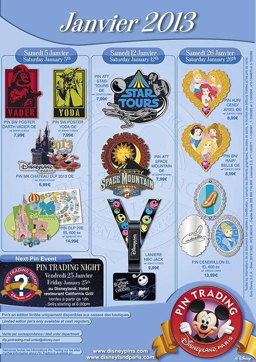 Disneyland Paris Pins for January 2013 – Sith, Jedi, Princesses & Pumpkins