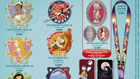 Disneyland Paris Pins for September 2013 – Guess what? More Princesses, plus Jack, Sally, Planes, Duffy & Dreams!