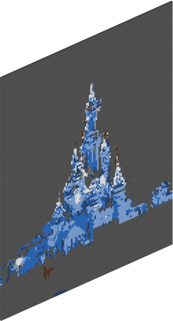 Sleeping Beauty Castle in Disneyland Paris LEGO Style, using Brickify