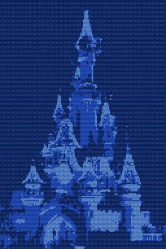 Sleeping Beauty's Castle in Disneyland Paris…LEGO Style