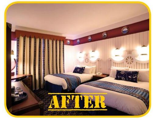 Disneyland Paris Photo Friday: Newport Bay Club Renovations - New Bedroom