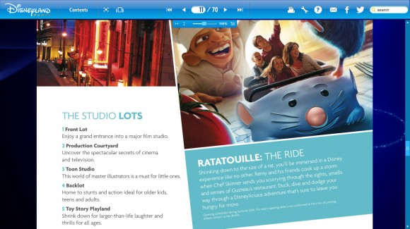 Ratatouille The Ride in the 2014 Disneyland Paris Brochure