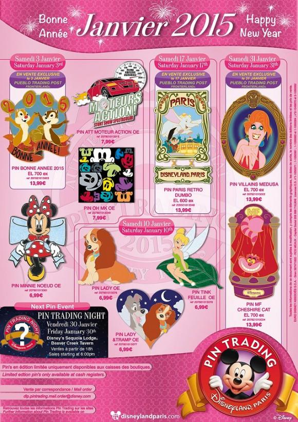 Disneyland Paris Pins for January 2015 – A Big Selection of Good!