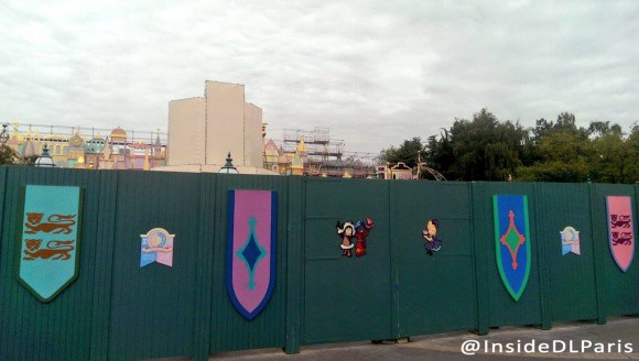 it's a small world being Refurbished in Disneyland Paris