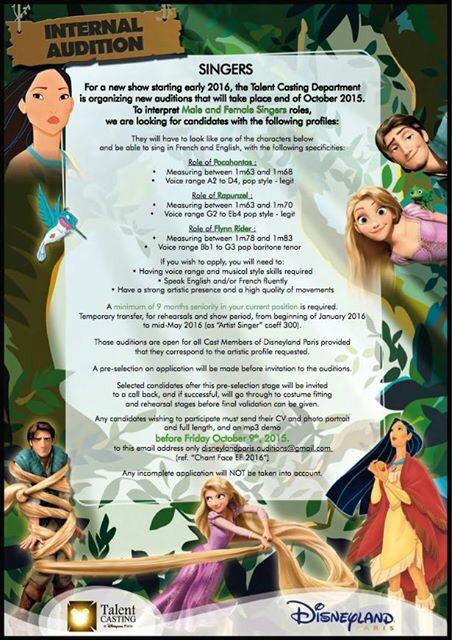 Disneyland Paris News: Pocahontas, Rapunzel & Flynn Rider to Star in New Show at The Chaparral Theater