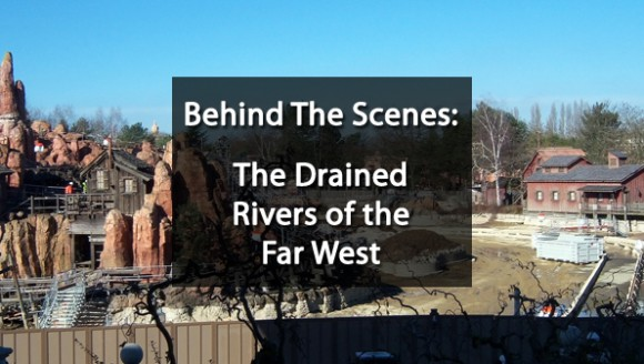 Big Thunder Mountain revealed – the drained Rivers of the Far West in Disneyland Paris