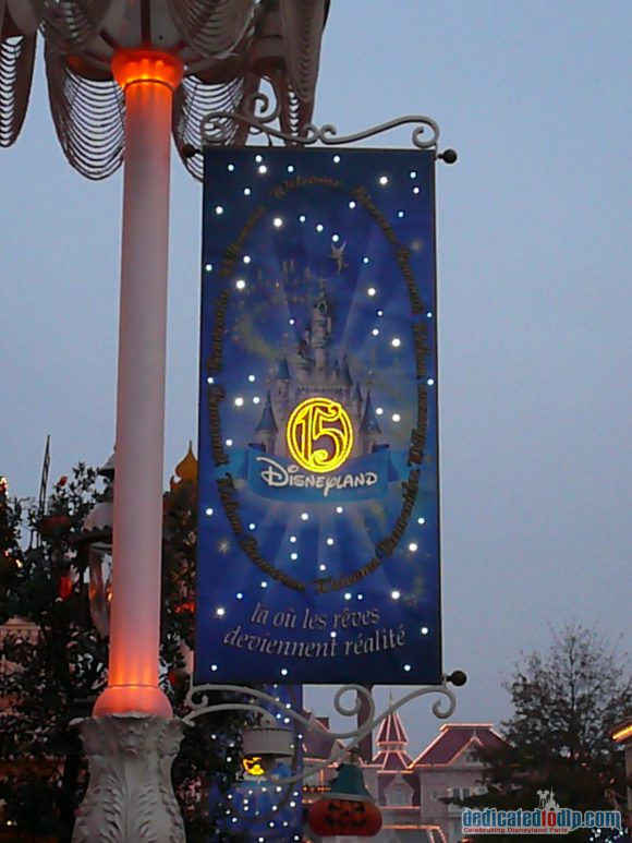 Disneyland Paris 15th Anniversary Decorations