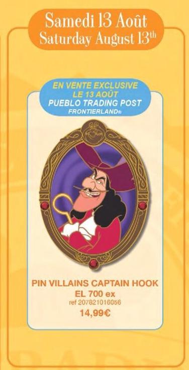 Disneyland Paris Pin Releases – 13th August 2016