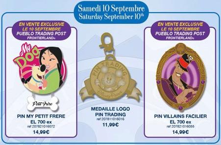 isneyland Paris Pin Releases - September 10th 2016