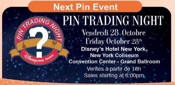 Disneyland Paris Pin Trading Night – October 28th 2016