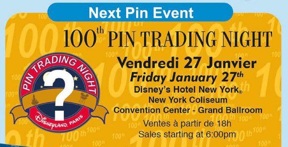 Disneyland Paris 100th Pin Trading Night – January 27th 2017