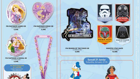 Disneyland Paris Pins January 2017 – Star Wars, Ducks & Rapunzel